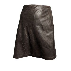 Vintage Roberto Cavalli Brown leather skirt